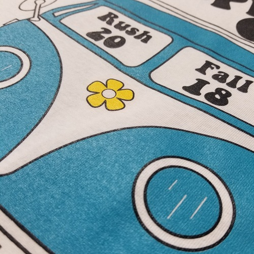 Screen-printing close-up