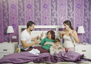 Mother in law in home bedroom, Couple problems