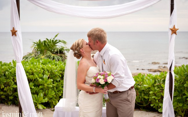 Claire & Brian's Cute Destination Wedding at Barceló Maya Palace