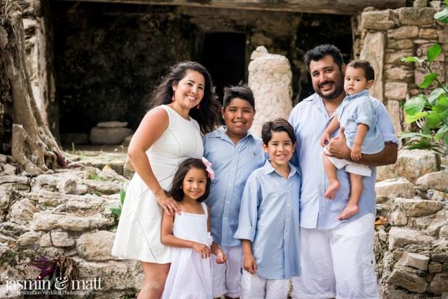 The Hernandez Family Photo Session at Xaman-Ha Ruins in Playacar