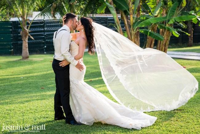 Kristen & Michael's Pristine & Picturesque Sky Deck Wedding at Azul Fives Hotel