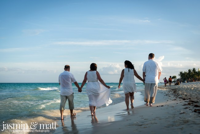 Amanda & Brad and Cat & Dave's Double Vow Renewal at Playacar Beach