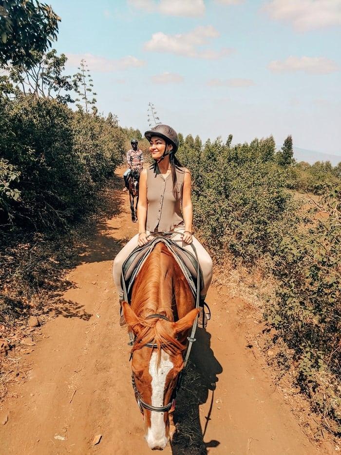 horseback riding at Fazenda Sengha
