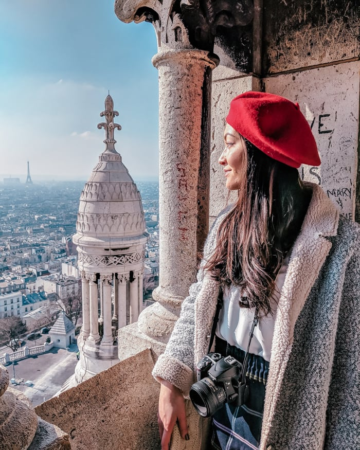 girl view from sacre coeur