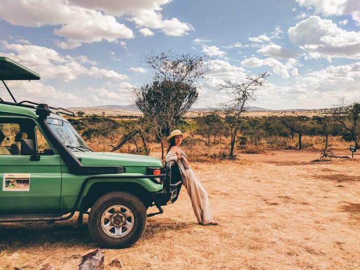 Girl with safari car