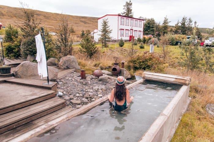 Hot tub at Guesthouse Storu-Laugar