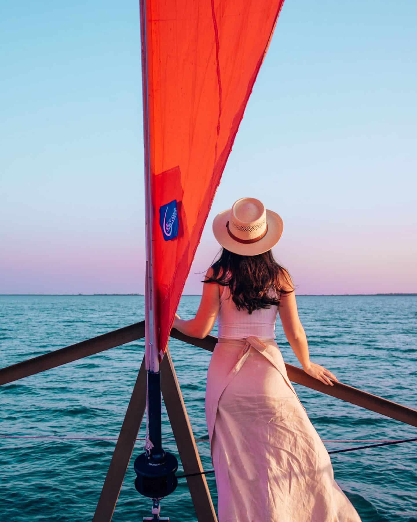 sail with scott sunset sail view