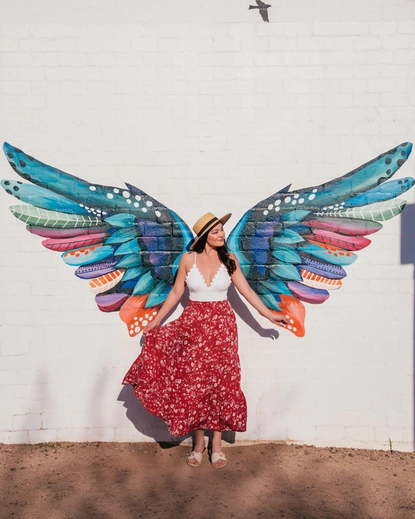 Wings mural in Phoenix
