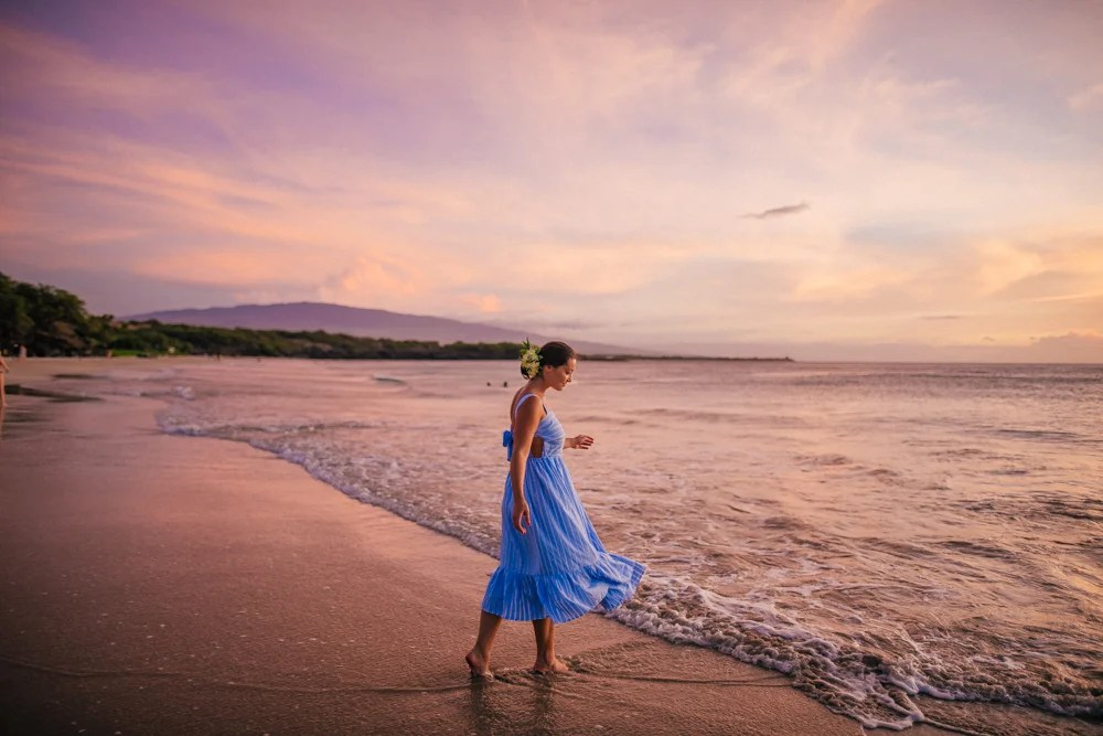 big island Hawaii beach sunset