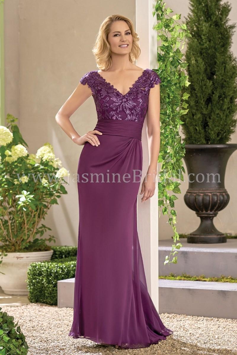 04c892805dc J195017 Long V Neck Embroidered Lace Chiffon Mob Dress