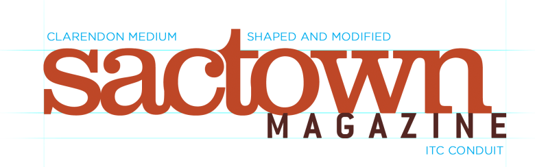 The initial logo for Sactown magazine at launch in 2006