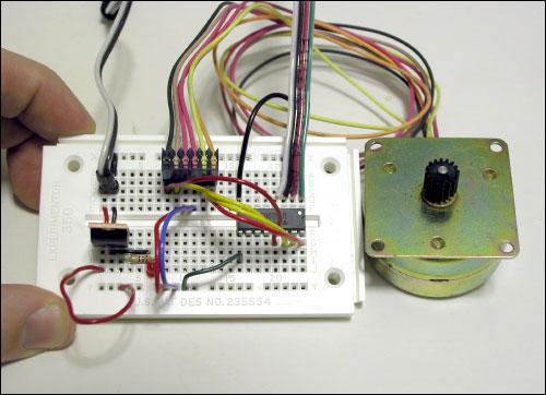 unipolar stepper motor and chip