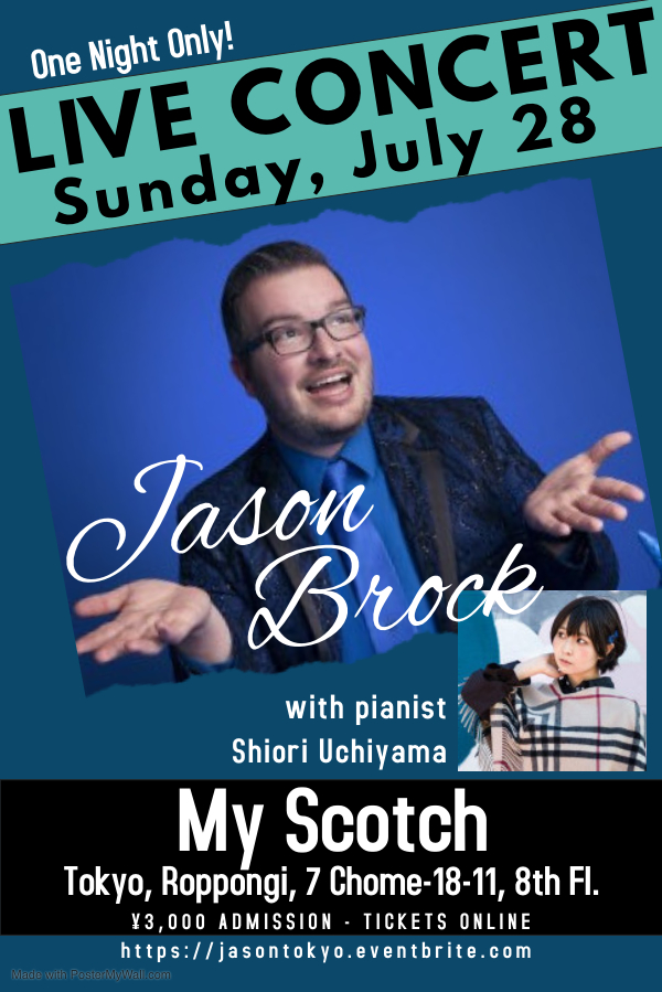 Jason Brock performs live in tokyo