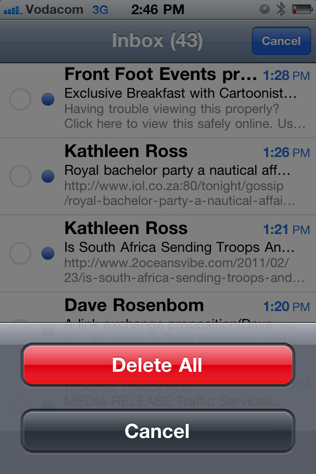 How to delete all your mail at once on your iPhone 4