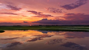 Sunset reflection in Ocean City New Jersey