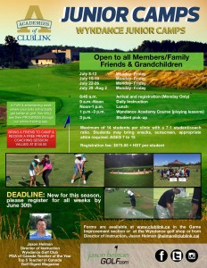 2019 Wyndance Junior Camps Jason Helman Golf Toronto and GTA
