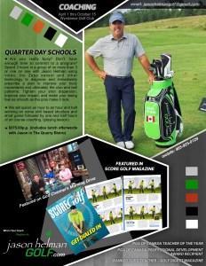 Jason Helman Golf Quarter Day Schools spend 3 hours with Canada's best coach