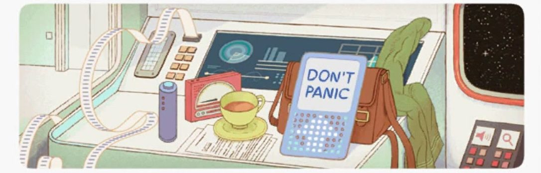 Google celebrates Douglas Adams