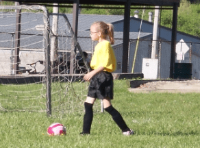 Allison's first soccer game