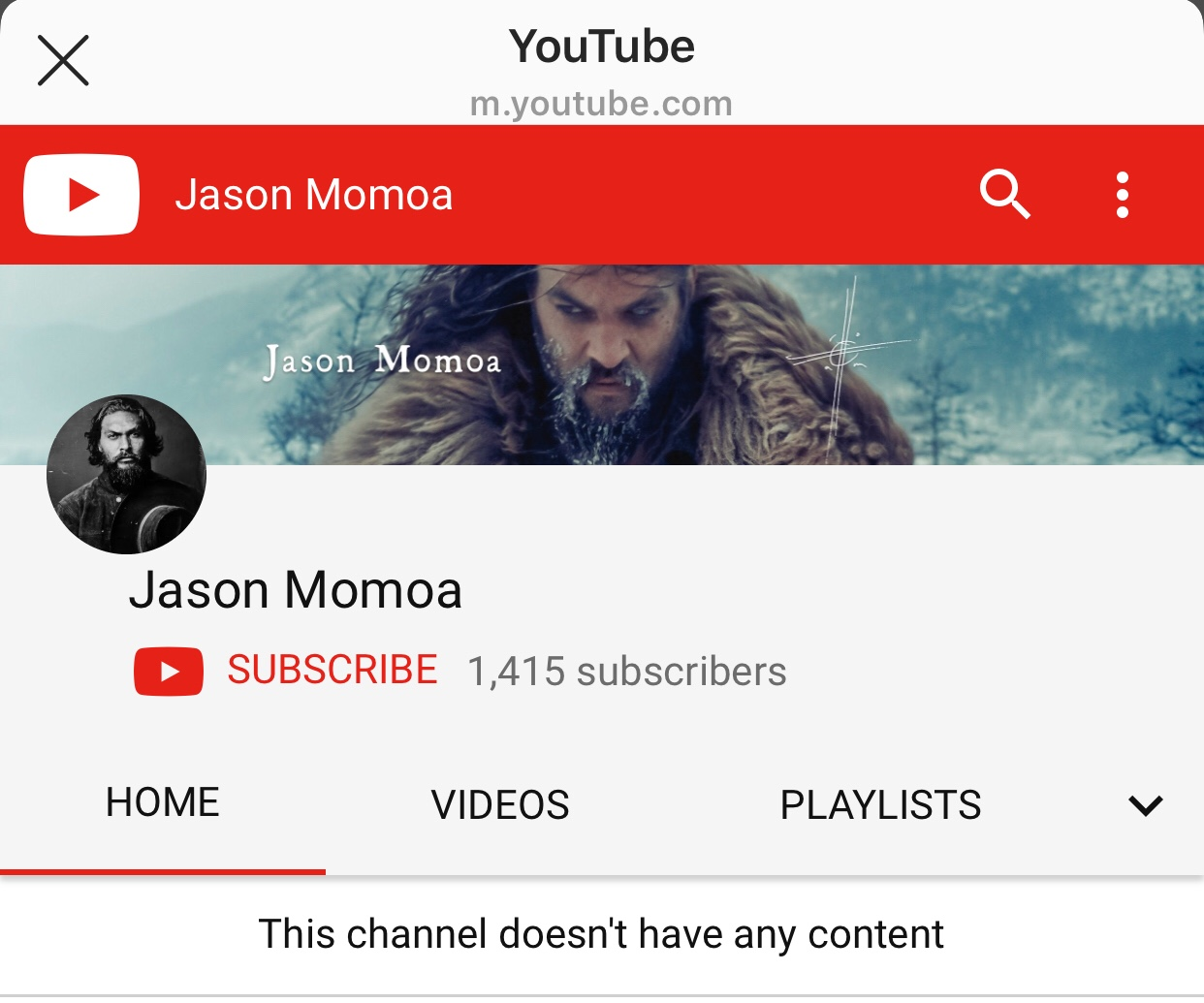 Jason Momoa Official YouTube