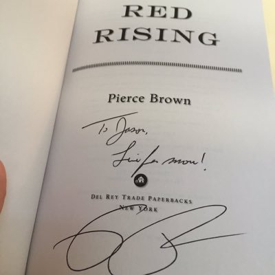 Red Rising Signed