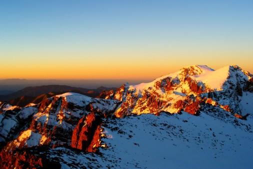 Sunrise on Toubkal