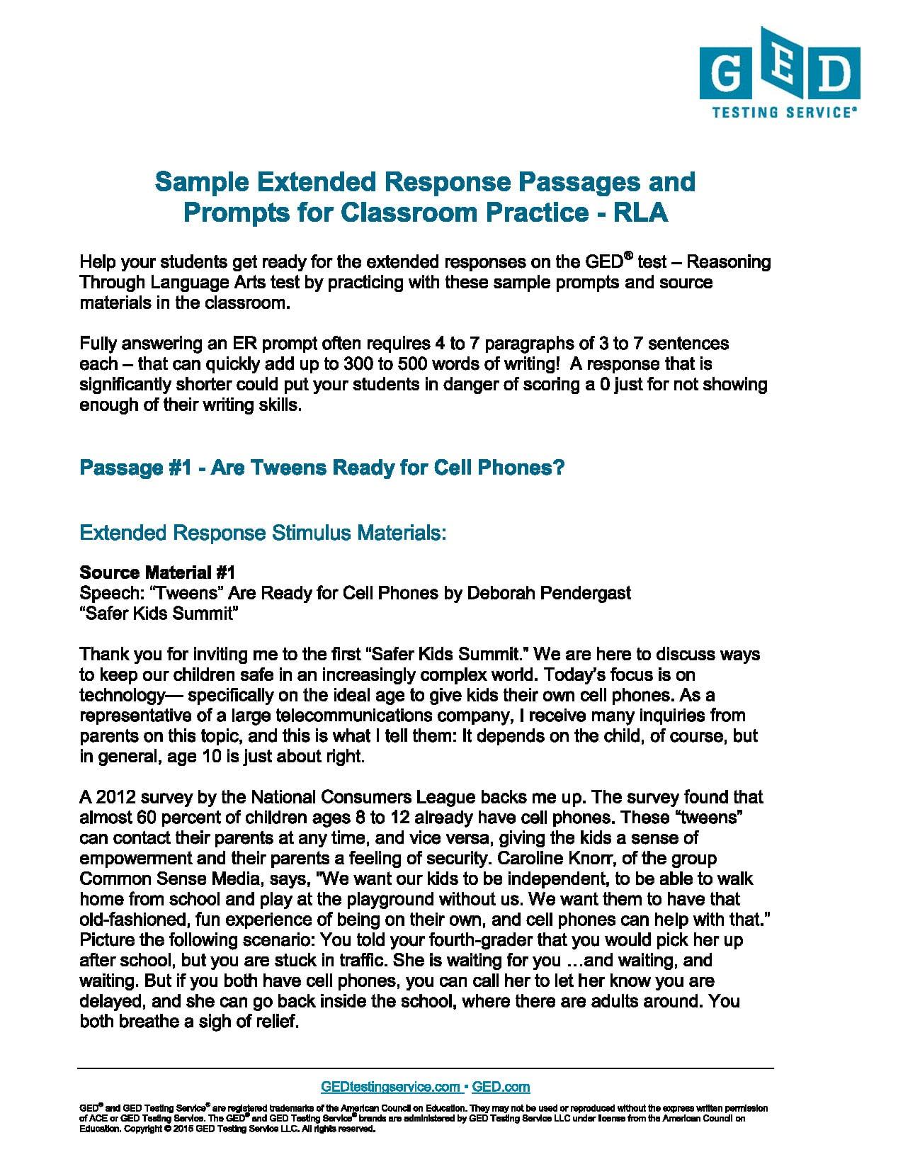 Ged Online Practice Test Free Printable