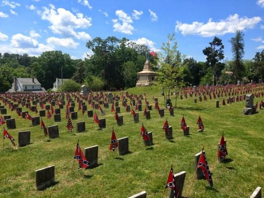 The Confederate cemetery.