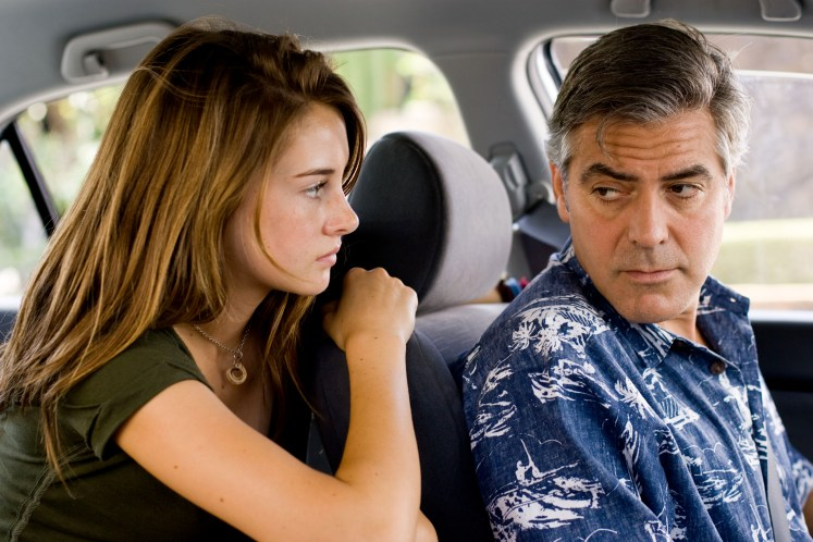 George Clooney and Shailene Woodley in The Descendants (2012)