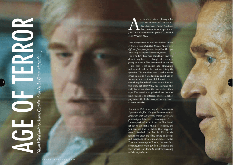 Anton Corbijn (A Most Wanted Man) interview / Curzon Magazine
