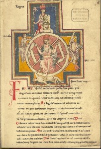 Fortuna, from the Carmina Burana codex, ca. 1230