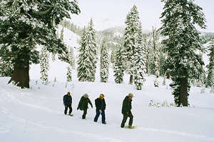 Snowshoeing: the traditional way to get around Banff National Park in winter.