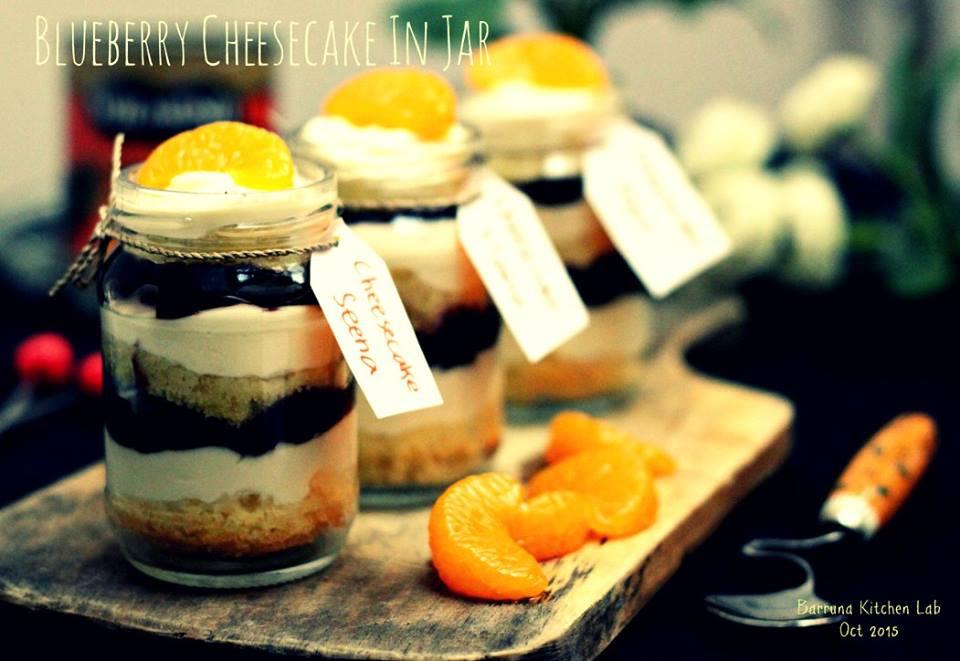 Resep Bolu Cheese Cake Jepang: Resep Cheese Cake Blueberry Dalam Jar Super Yummy