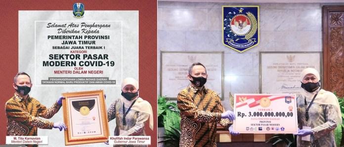 Jawa Timur Raih 2 Penghargaan Lomba Inovasi New Normal Life