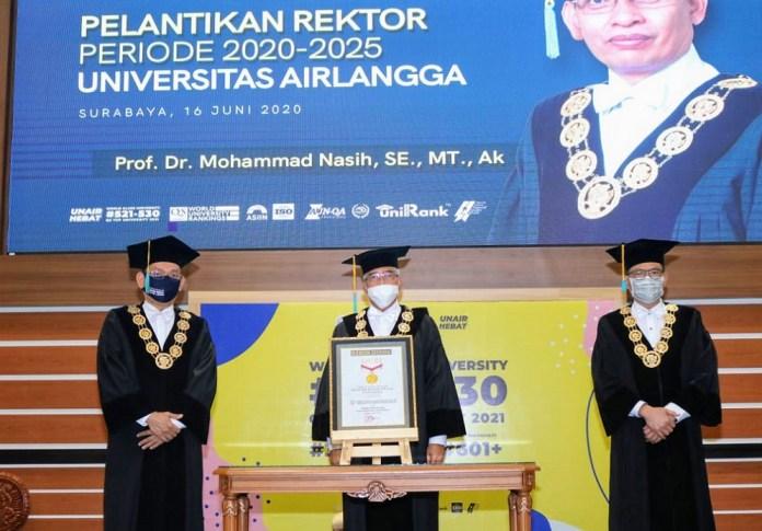 Prof Nasih Kembali Dilantik Jadi Rektor UNAIR