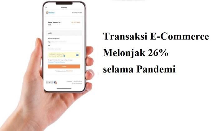 Transaksi E-Commerce Melonjak 26% selama Pandemi