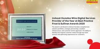 Indosat Ooredoo Raih Frost & Sullivan Best Practices Award