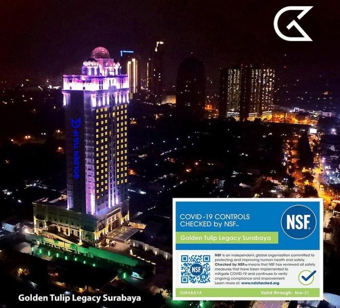 Hotel Golden Tulip Indonesia Lulus Audit Kesehatan NSF International