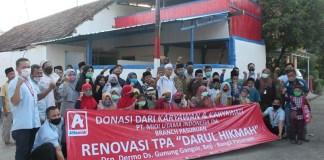 Karyawan Alfamidi Jatim Bantu Renovasi Taman Pendidikan Alquran