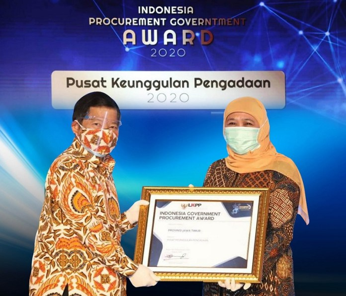 Pemprov Jatim Raih Indonesia Government Procurement Awards 2020