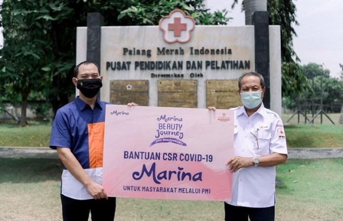 Marina Donasikan 18.000 Produk Marina Body Wash pada Palang Merah Indonesia