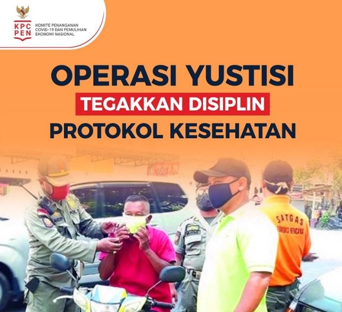 Operasi Yustisi Berhasil Kumpulkan Uang Denda Rp 1,19 Miliar