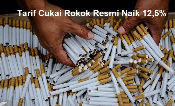 Tarif Cukai Rokok Resmi Naik 12,5 Persen
