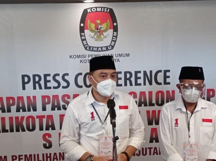 KPU Tetapkan Eri Cahyadi-Armuji Sebagai Walikota dan Wakil Walikota Surabaya Terpilih