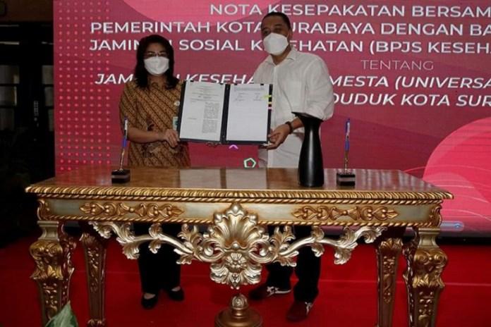 Kejar UHC April 2021 BPJS Kesehatan Teken MoU dengan Pemkot Surabaya
