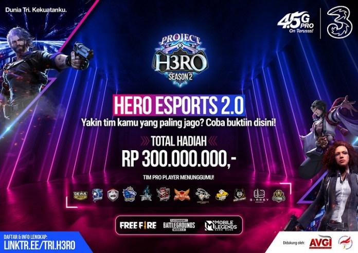 3 IndonesiaHadirkan H3RO Esports Tournament 2.0