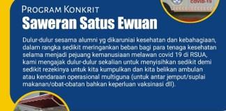 """Alumni UNAIR Dukung Kebutuhan Operasional Kesehatan Melalui """"Saweran Satus Ewuan"""""""