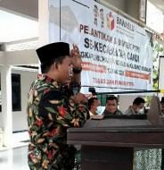 Demi Pelaksanaan Pilkada Jurdil di Sidoarjo, Bawaslu Melantik dan Mengambil Sumpah Pengawas TPS Se-Kecamatan Candi