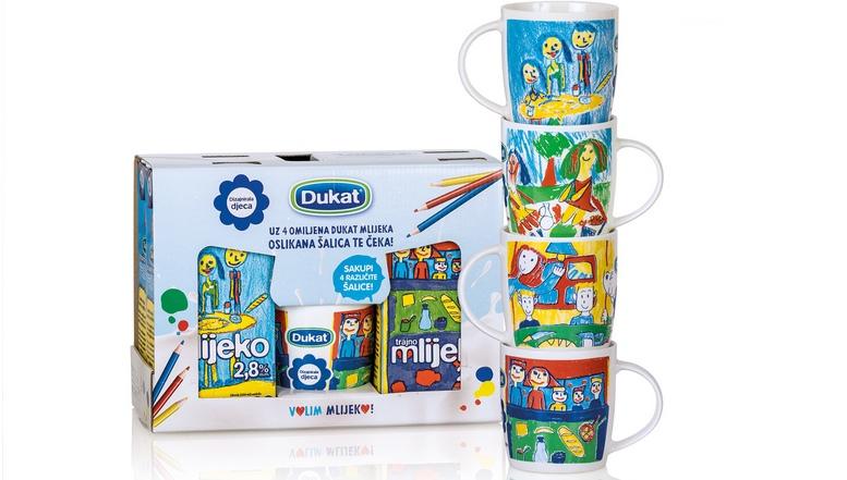 Dukat trajno mlijeko i salice s djecjim dizajnom_1
