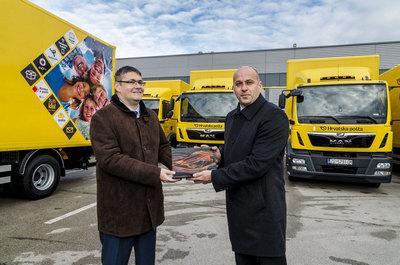 Hrvatska pošta pojačala vozni park s 27 kamiona MAN